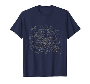 Stars Constellations Astronomy T shirt Cosmos Galaxy