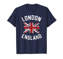 Load image into Gallery viewer, London England Britain Flag United Kingdom Union Jack TShirt