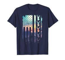 Load image into Gallery viewer, Deer Hunting And America Flag TShirt Hunting Lover Gift