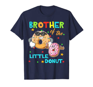 Brother Of The Little Donut Birthday Shirt Donut Shirt