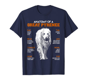 Anatomy Of A Great Pyrenee Dogs T Shirt Funny Gift