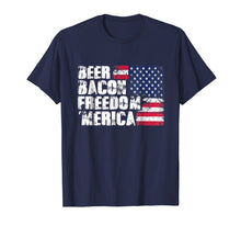 Load image into Gallery viewer, Beer Bacon Freedom Merica - American Flag 4th of July Shirt