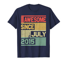 Load image into Gallery viewer, Awesome Since July 2015 Shirt Vintage 4th Birthday Gift Kid