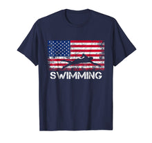 Load image into Gallery viewer, American Flag Swimming Shirt - Swimming Team Gift