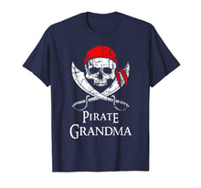Load image into Gallery viewer, Pirate Grandma Family Jolly Roger Skull T-Shirt
