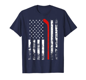 American Flag Hockey USA Patriotic Gift T-Shirt
