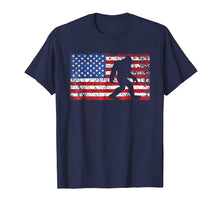 Load image into Gallery viewer, American Flag Bigfoot T-Shirt, Funny 4th of July Sasquatch