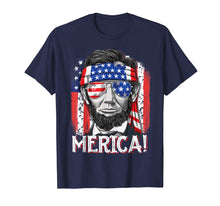 Load image into Gallery viewer, 4th of July Shirts for Men Merica Abe Lincoln Women Tee Gift