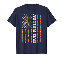 Load image into Gallery viewer, Autism Awareness Proud Autism Dad Vintage US Flag T-Shirt