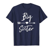 Load image into Gallery viewer, Big sister T Shirt cute girls womens heart arrow love tee