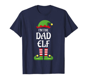 Mens I'm The Dad Elf Family Matching Group Christmas Gift Daddy T-Shirt