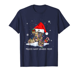 Proud Navy Seabee Mom christmas Gift T-Shirt