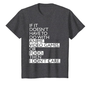 Anime T-shirt | Anime Video Games or Food