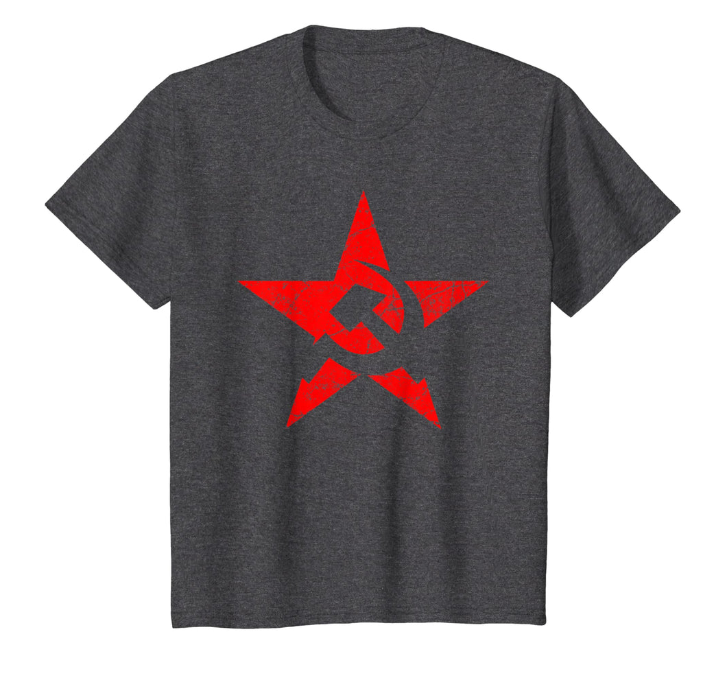Symbol Red Star Hammer & Sickle Flag T-shirt - 5 colors