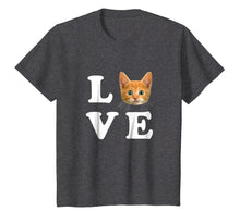 Load image into Gallery viewer, Love Orange Cat Shirt I Heart Love Cats Shirt Cat Lover Gift