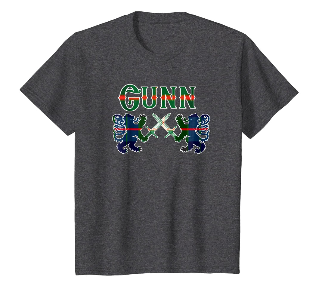 Clan Gunn Scottish T-Shirt Family Kilt Tartan Lion Gift
