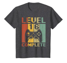 Load image into Gallery viewer, Level 16 Complete Gamer 16th Birthday Boys Teenager TShirt