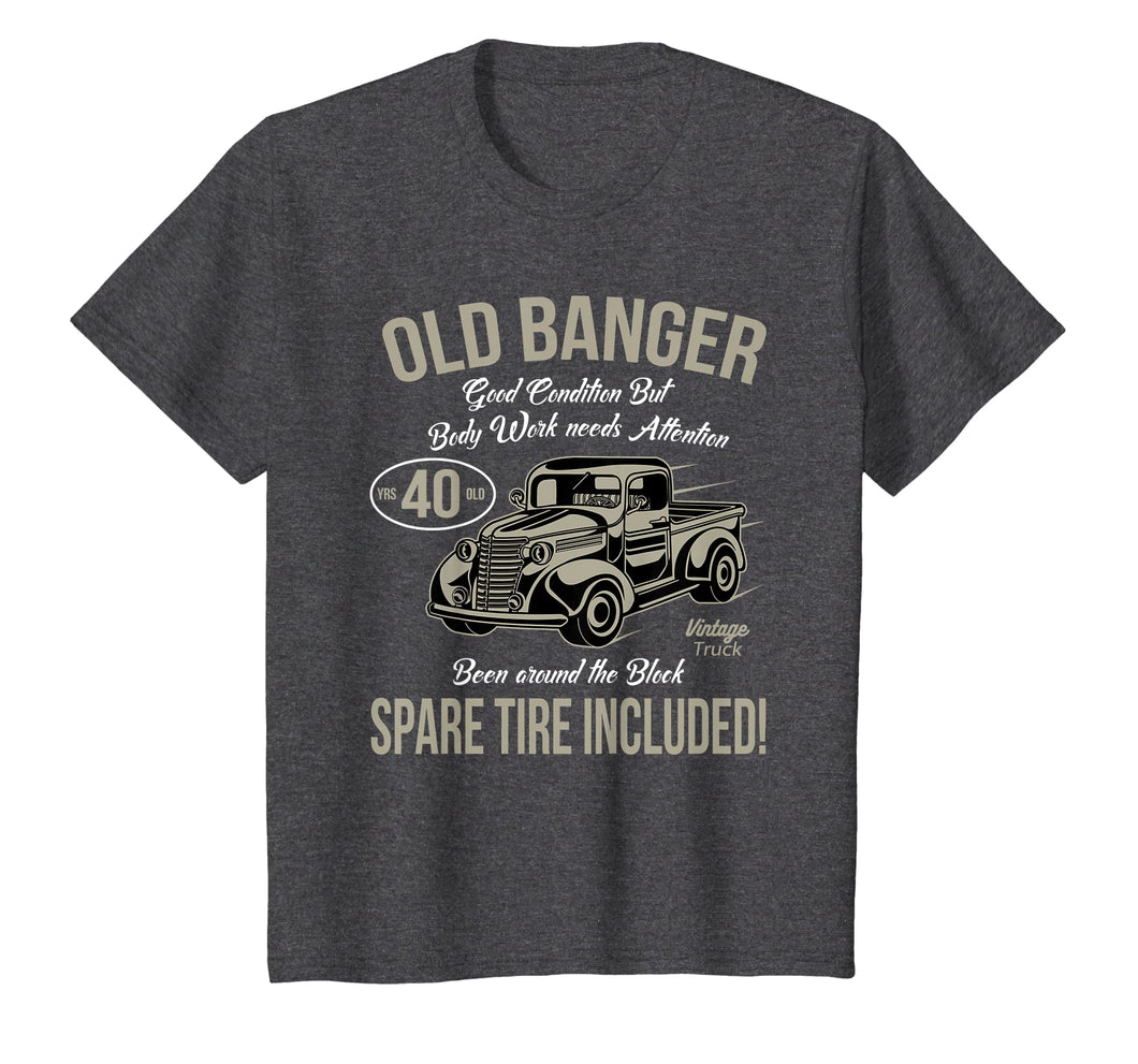 40th Birthday T-Shirt Vintage Old Banger 40 years old Gift