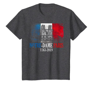 Vintage Paris Flag France City Notre-Dame Cathedral T-Shirt