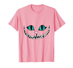 Cheshire Cat T-Shirt - Grinning Invisible Cat Tee Halloween
