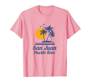 San Juan Puerto Rico Shirt Beach Tourist Souvenir Vacation