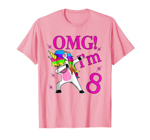 2011 Bday Gift OMG! I'm 8 years Old Unicorn Dabbing TShirt