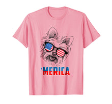 Load image into Gallery viewer, 4th of July Patriot Yorkshire Terrier Merica Shirt Dog Lover