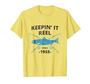Keepin It Reel Since 1958 61st Birthday Fishing Gift T-Shirt