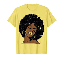 Load image into Gallery viewer, Lips Stars Black Girl Magic Afro Diva T-Shirt Melanin