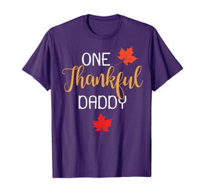 One Thankful Daddy Thanksgiving Day Family Matching Gift T-Shirt