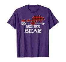 Load image into Gallery viewer, Red Plaid Brother Bear Two Cubs Matching Buffalo Pajama Xmas T-Shirt