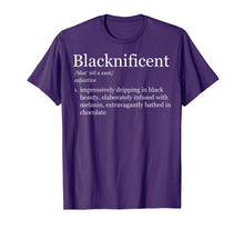 Load image into Gallery viewer, Blacknificent Magnificent Black Pride Melanin Shirt Gift