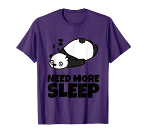 Sleepy Panda Bear Lover Animal Kids Men Women Youth T Shirt