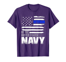 Load image into Gallery viewer, US Navy Veteran Tshirt USA Flag