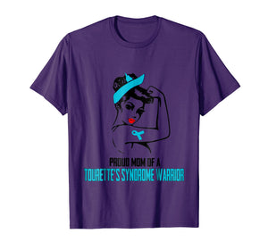 Proud Mom Of A Tourette's Syndrome Warrior Shirt For Women