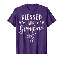 Load image into Gallery viewer, Blessed Grandma T-Shirt with floral, heart Mother's Day Gift