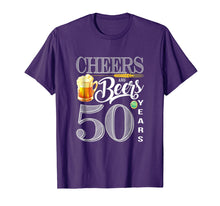 Load image into Gallery viewer, 50th Birthday Shirt Cheers And Beers To 50 Years T-Shirt