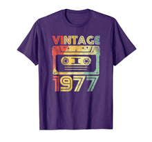 Load image into Gallery viewer, Vintage 1977 Birthday Cassette 70s Party Wear Gift Tee