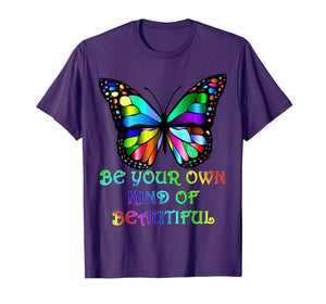 Kindness Butterfly T-Shirt Be Your Own Kind of Beautiful