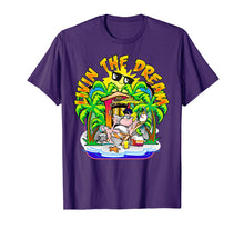 Load image into Gallery viewer, Living the Dream T Shirt Beach Parrot Sun Palm Trees