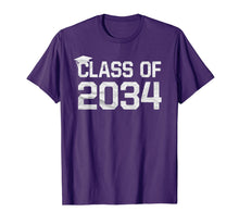 Load image into Gallery viewer, Class Of 2034 Grow With Me Graduation First Day Of School T-Shirt