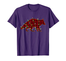 Load image into Gallery viewer, Raccoon Red Plaid Buffalo Christmas Light Pajama T-Shirt