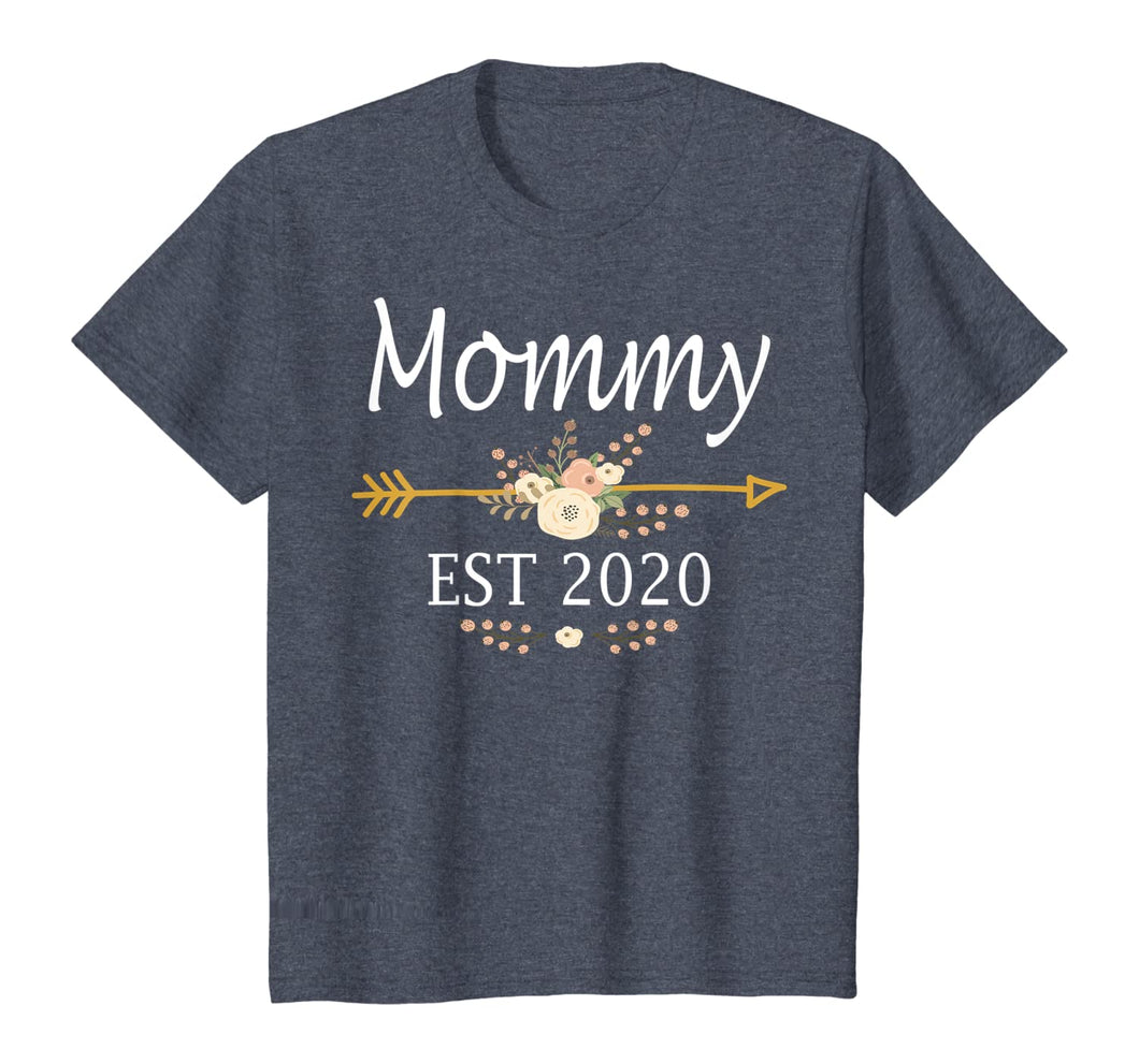 Mommy Est 2020 Shirt New Mommy Gift Thanksgiving Christmas T-Shirt