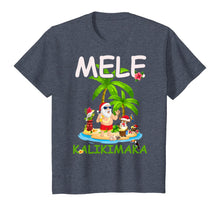 Load image into Gallery viewer, Mele Kalikimaka Santa Claus Merry Xmas Aloha Hawaii Gift T-Shirt