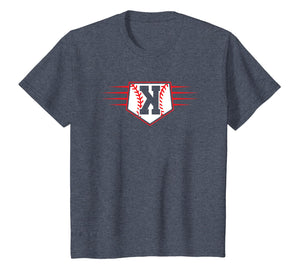 Backwards K Baseball Pitcher Strikeout T-Shirt
