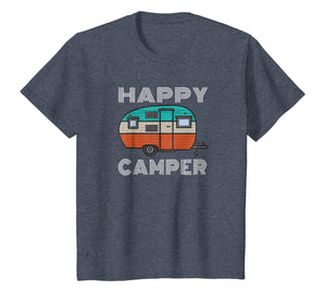 Camping Outdoor Camper Happy Camper Vintage Gift T-Shirt