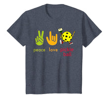 Load image into Gallery viewer, Peace Love Pickleball Tshirt Humor Sport Game Gift