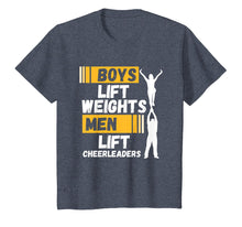 Load image into Gallery viewer, Boys Lift Weights Quote - Funny Male Cheerleader Shirt