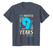Load image into Gallery viewer, 9th Birthday Gifts Son Daughter Nine 9 Year Old Boys Girls T-Shirt