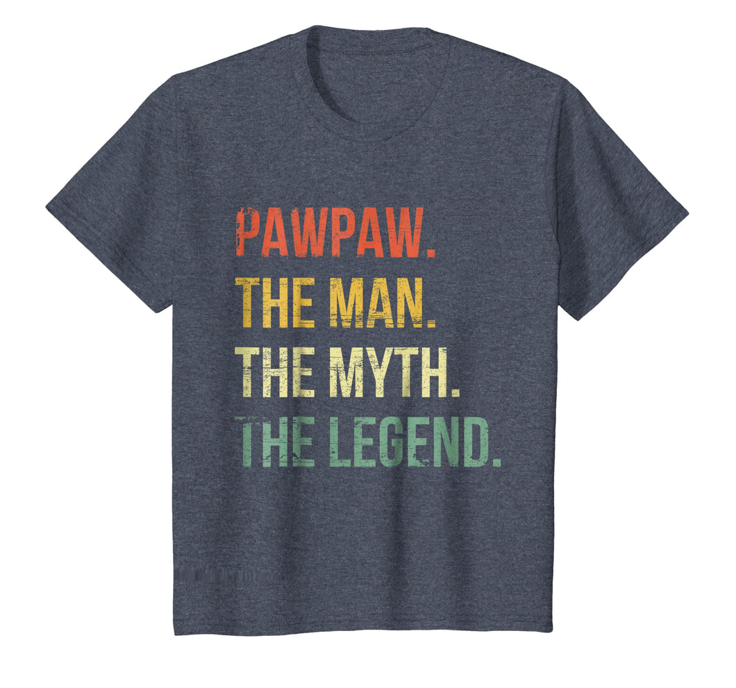 Mens Pawpaw Man Myth Legend Shirt For Dad Father Grandpa